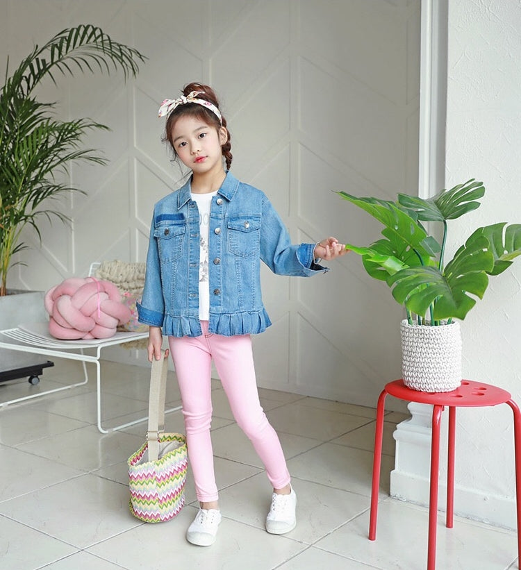 3-15Y Girls Pink Legging Pants A2045E (Mother size available)