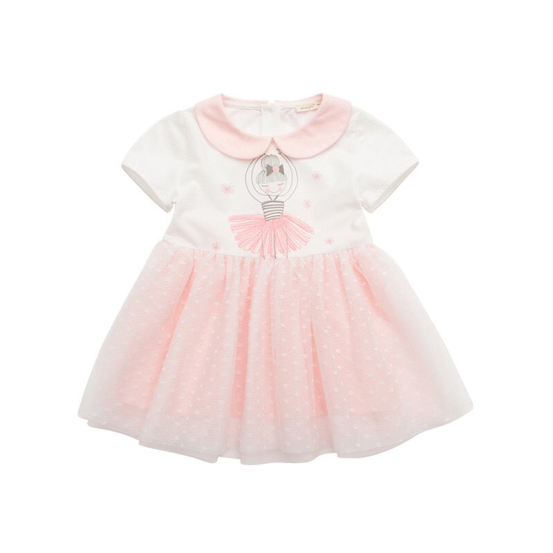 1-6Y Girls Princess Pink Tulle Dress G2021F