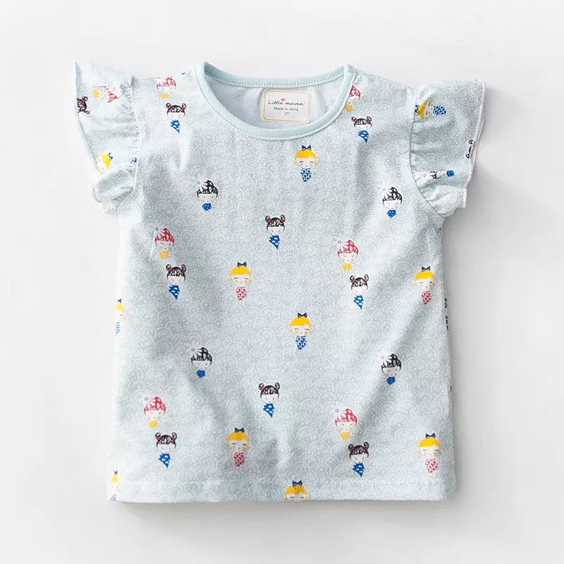 1-6Y Girls Little Maven Short-sleeve Shirts A2311E
