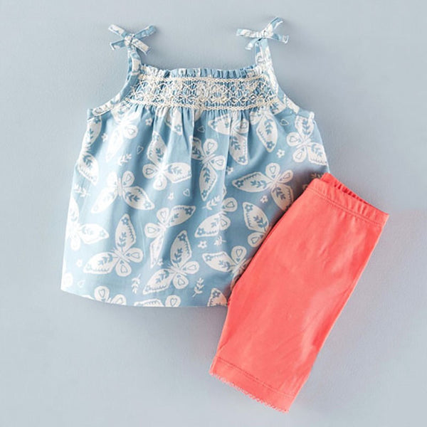 1-6Y Girls Little Maven Grey Top and Bottom 2pcs Set K20121A