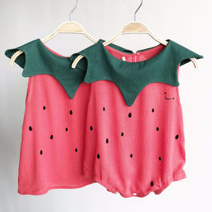 0-8Y Kids Watermelon Dress A20125G / Watermelon Romper A40311E