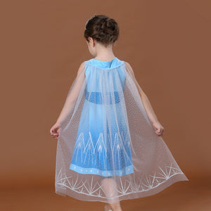 Girls Blue Dress with/without Cape A20135E / A20135F