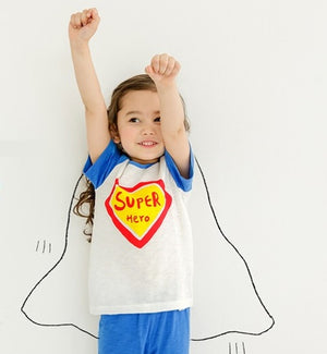2-8Y Kids Super Heroes Homewear 2pcs Set A40411B
