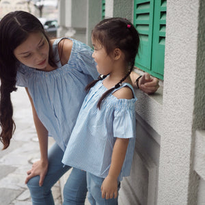 3-15Y Girls Blue Blouse G212C (Mother sizes available)