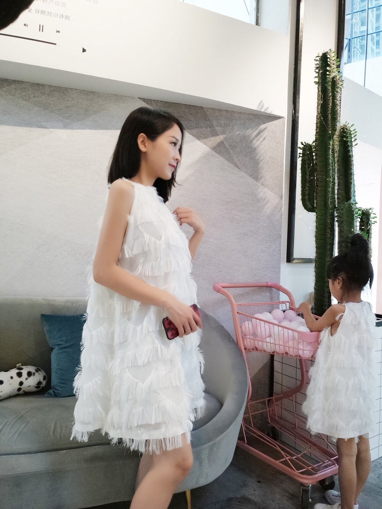 2-8Y Kids Ruffle Dress G21035G (Mother sizes available)
