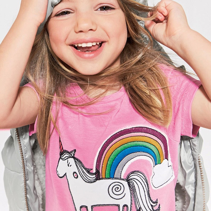 1-6Y Girls Little Maven Short Sleeve Shirt A20212C