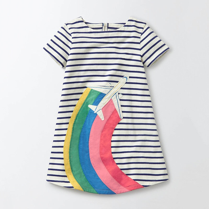 1-6Y Girls Little Maven Rainbow Dress A20141D
