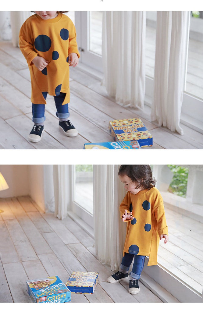 1-6Y Kids Long Sweater A42111C