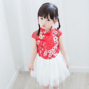 2-8Y Girls Cheongsam Tulle Dress A200C13L