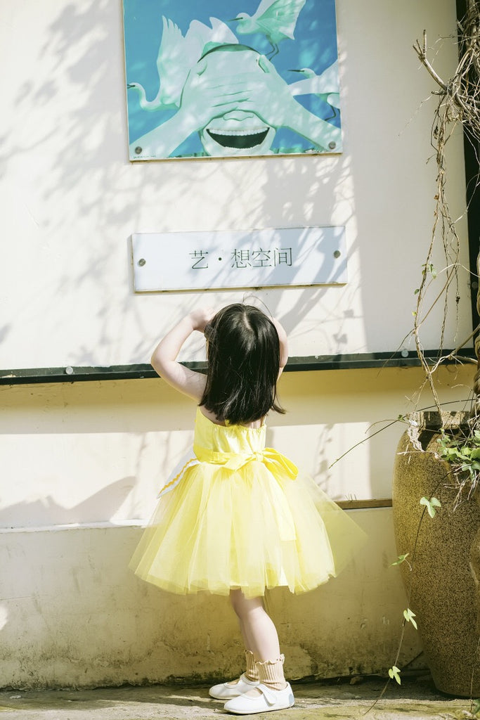 1-8Y Girls Pinafore Tulle Dress A20125F