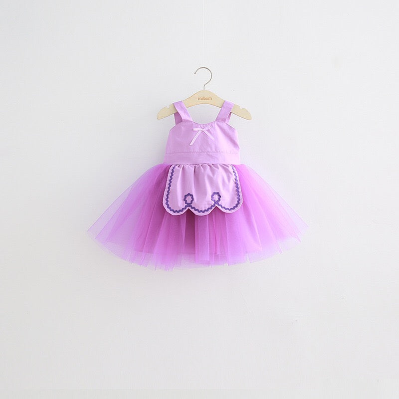 1-8Y Girls Pinafore Tulle Dress A20125I