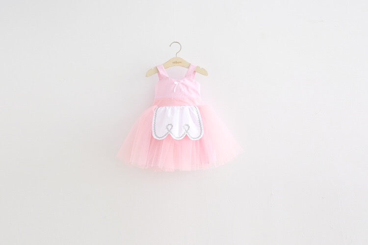 1-8Y Girls Pinafore Tulle Dress A20125E