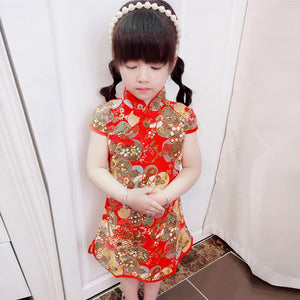 3-10Y Girls Cheongsam Dress A200C67C