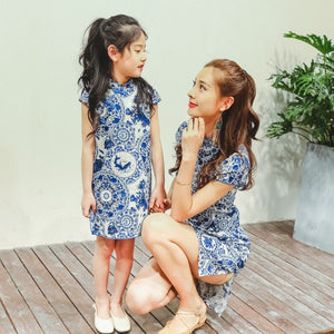 3-15Y Cheongsam Dress A200C67D (Mother sizes available)