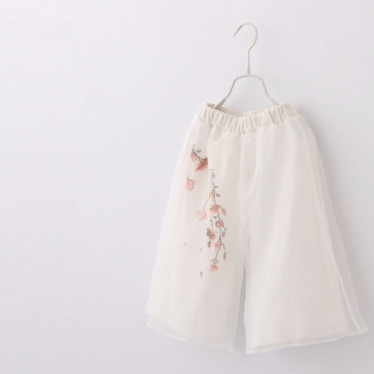 2-8Y Girls Chinese Tulle Pants A200C32B