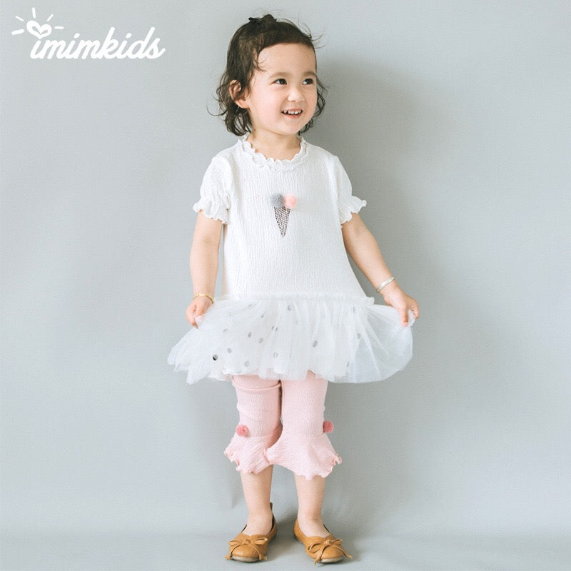 2-6Y Girls White Ice-Cream Tulle Dess G2501C