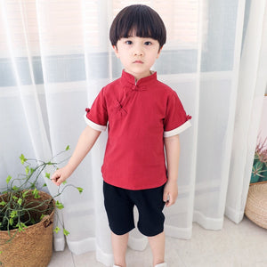 2-7Y Boys Kungfu Top and Bottom 2pcs Set A100C42F/ Top only A100C13I