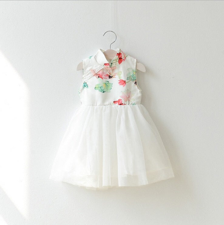 2-8Y Girls Cheongsam Tulle Dress A200C13M