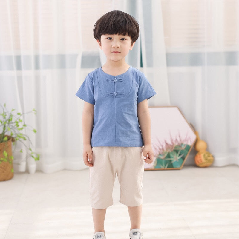 2-7Y Boys Kungfu Top and Bottom 2pcs Set A100C42G