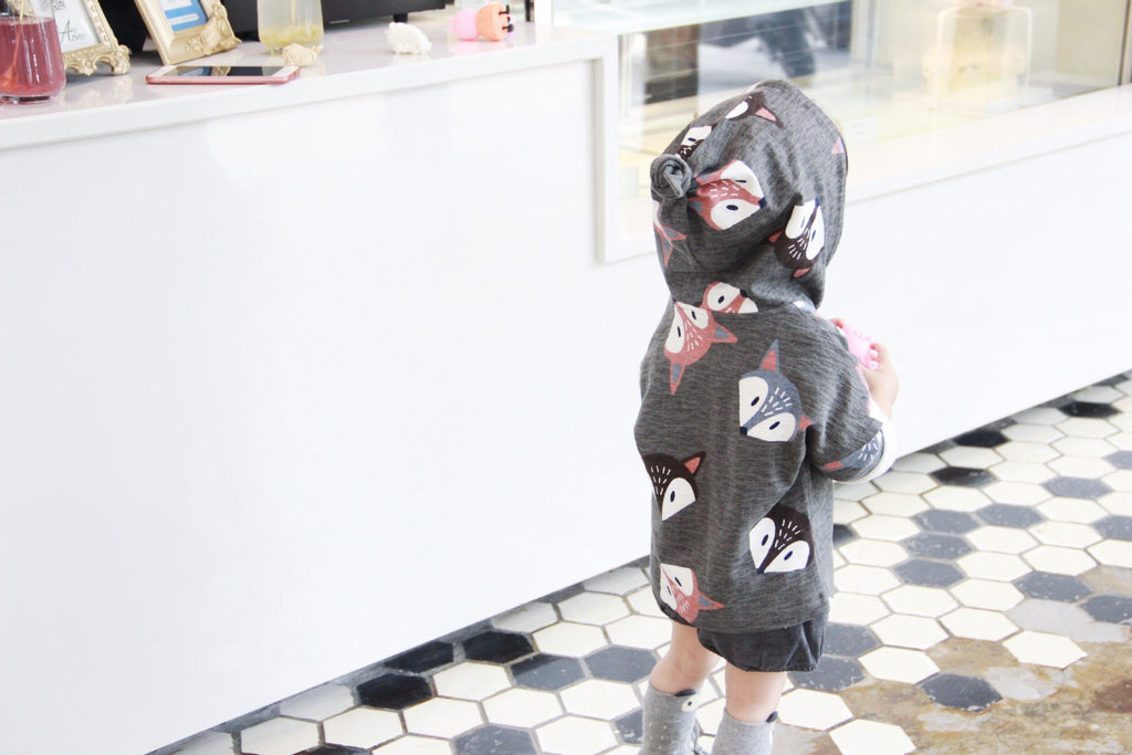 1-6Y Kids Grey Fox Jacket A2085H