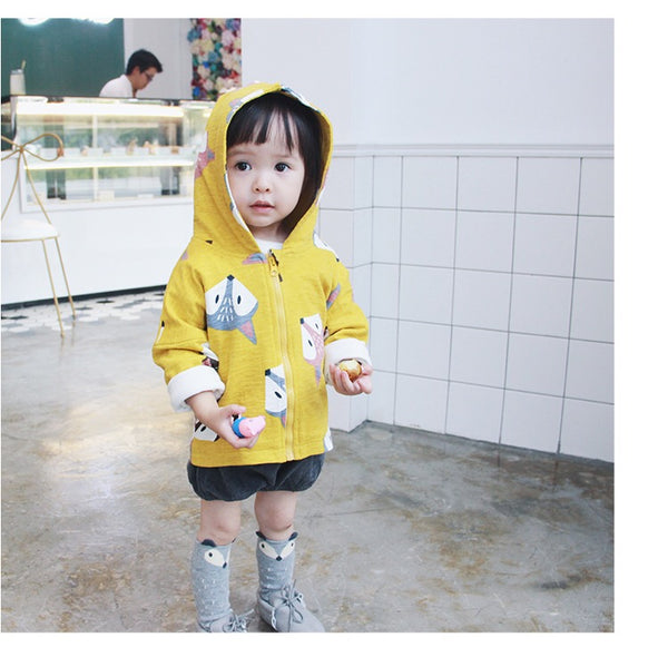 1-6Y Kids Yellow Fox Jacket A2085I