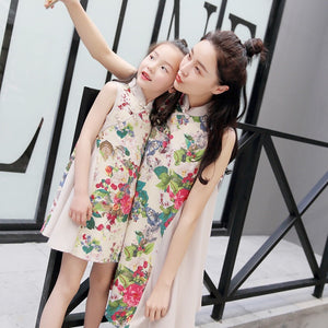 2-15Y Girls Cheongsam Dress A200C17E (Mother sizes available)