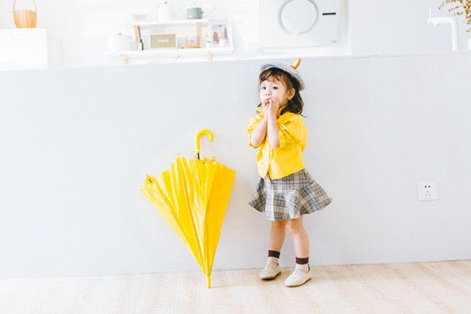 1-6Y Girls Yellow Blouse A2024H
