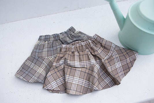 1-6Y Girls Checker Skirt A2046C