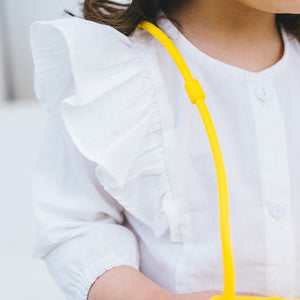 1-6Y Girls White Ruffles Blouse A2024I