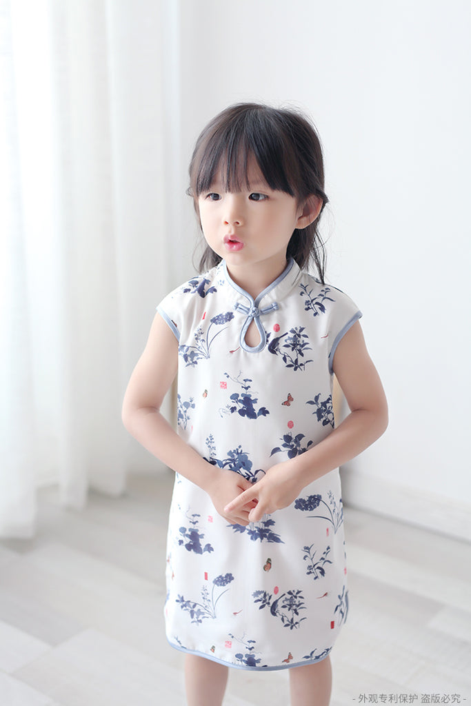 2-8Y Girls Cheongsam Dress with Lining A200C13C