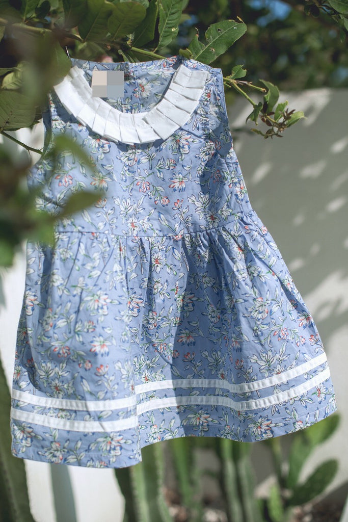 2-6Y Girls Blue Floral Dress A20126C