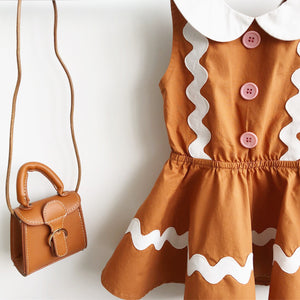 1-7Y Girls Gingerbread Man Dress G20122F
