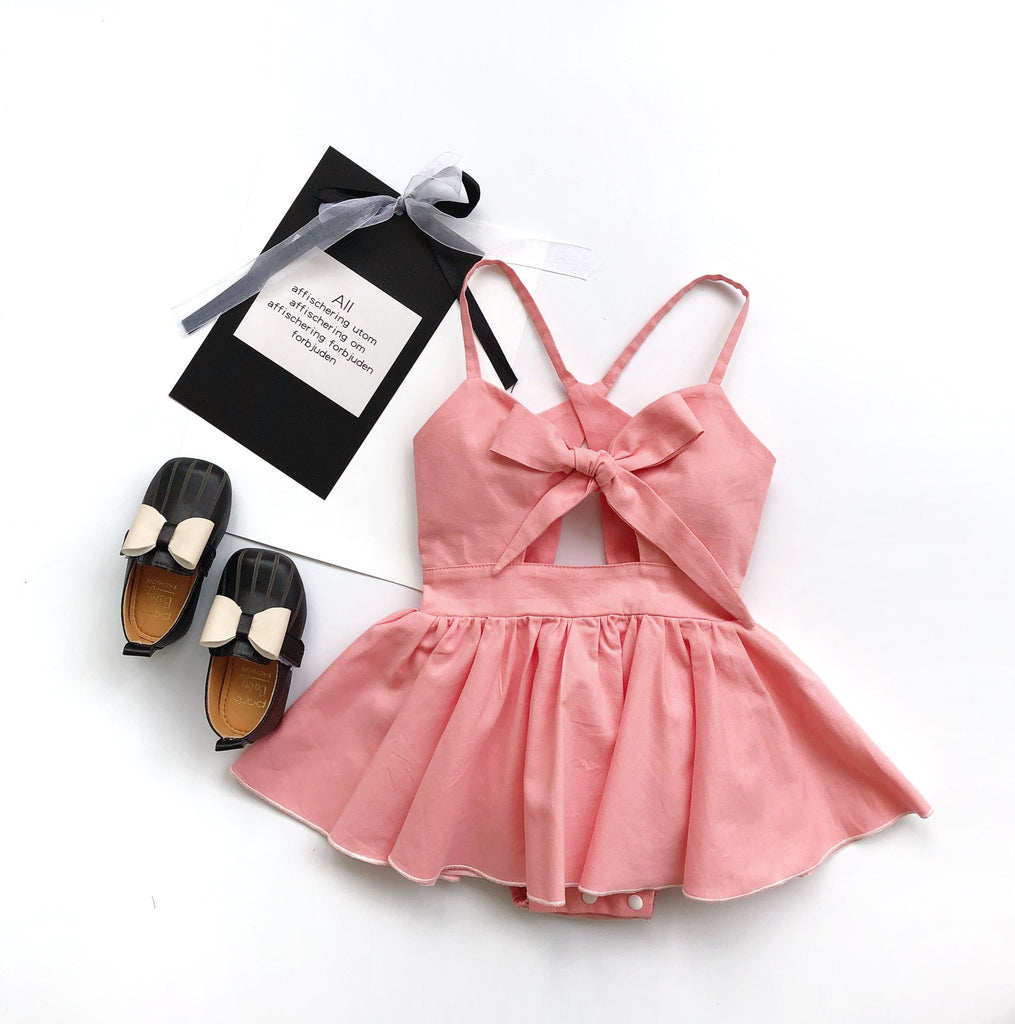 1-6Y Girls Ribbon Romper Dress G20122H