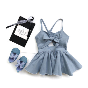 1-6Y Girls Ribbon Romper Dress G20122G