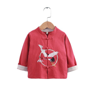 2-8Y Boys Mandarin Collar Shirt A100C17E