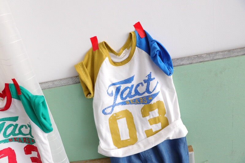 3-8Y Kids Shirts with Colour Sleeves A10462D