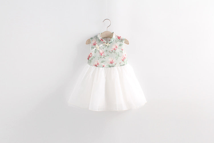 1-8Y Girls Cheongsam Tulle Dress A200C11C