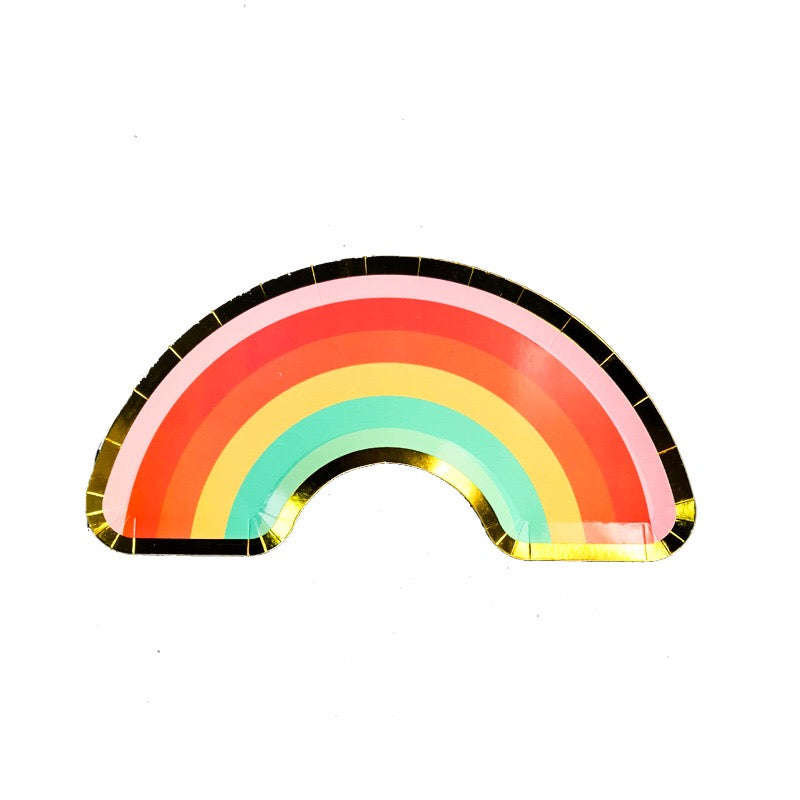 Rainbow Party Plates Package of 8 x 5 pcs / pack A70311A