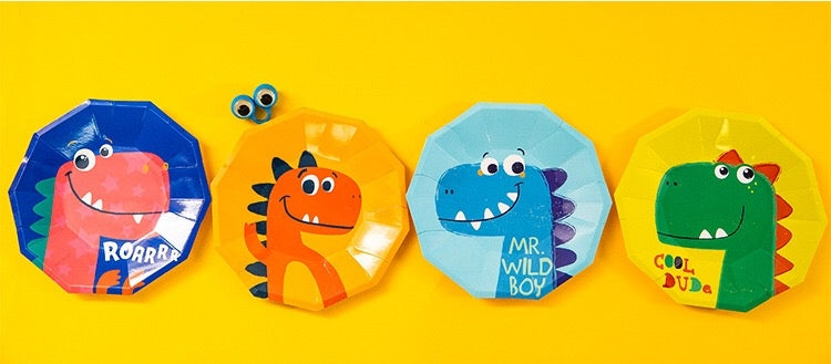 Dinosaur Party Plates Package of 8pcs/pack A70311B