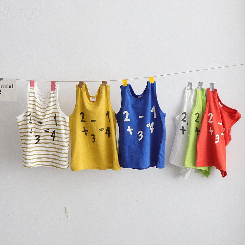 1-6Y Kids Number Tees A10462K