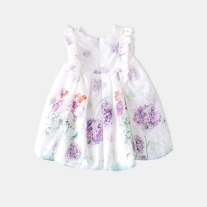 3-10Y Girls Lavendar Garden Dress G20125M