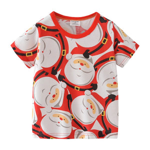 2-7Y Boys Short Sleeve Santa Claus T-Shirt A10414F