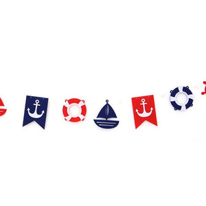 Party Flags Garland Set Nautical A7043K