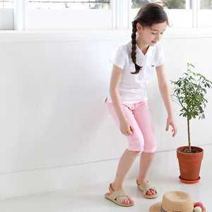 3-15Y Kids Pink Cropped Pants G21043D (Mother size available)