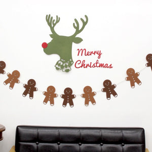 Christmas Gingerbreadman Garland A723K