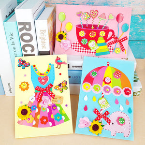 DIY Handmade Greeting Card Birthday Card Kit for Friends , Family and Teachers TD1002D