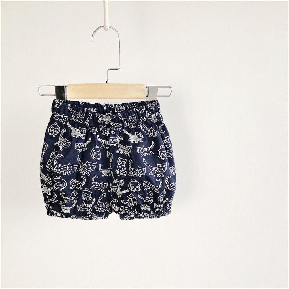1-6Y Kids Kitty Print Shorts A10312H