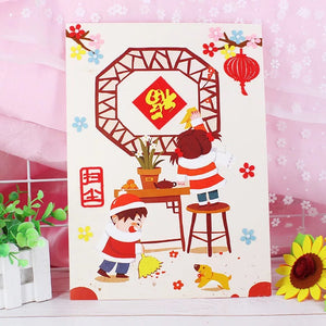 Lunar New Year Art and Craft Greeting Card DIY CNY1013C