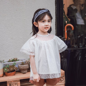 3-10Y Kids Lace Blouse A20215A