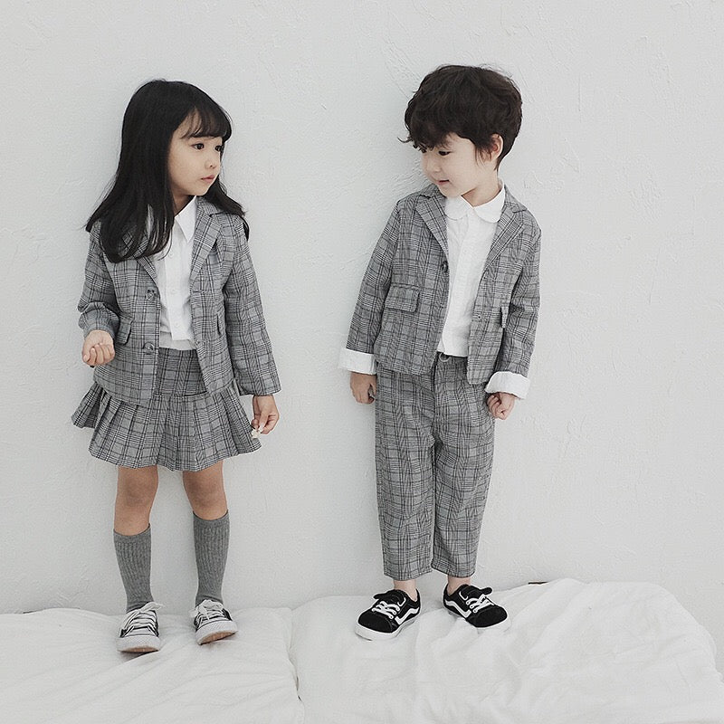2-7Y Kids Blazer, Top and Bottom 3pcs Set G20511A/G20511B